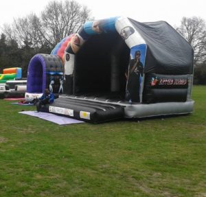 Bouncy castle on the outfield at Totteridge
